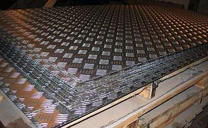 Лист алюминиевый рифленый 1.5х1500х3000мм (Диамант) ТУ 1-801--20-2008