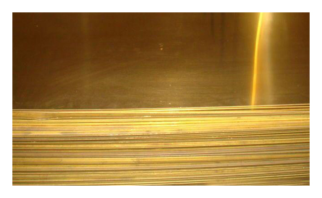 Лист латунный 7х600х1500мм ЛС63
